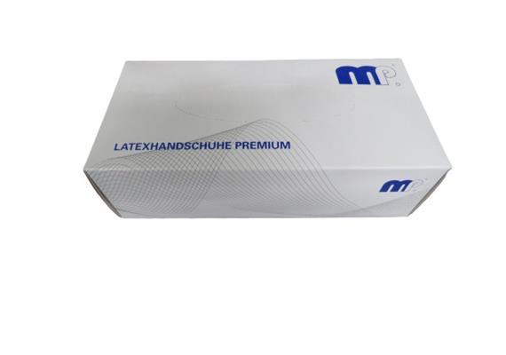 MP Latexhandschuhe Premium L, 100 Stück-Packung,inkl.LSVA