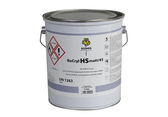 Rosner Rocryl HS Color, 45, mat, RAL 9010, 5 lt.